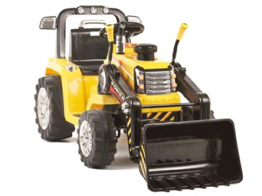12v Electric Tractor Toy Yellow | Kids Sit & Ride on Battery Powered | TOYSTOREUK
